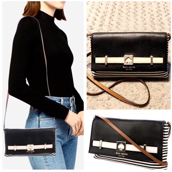 kate spade Handbags - Kate Spade NY striped crossbody paid $325